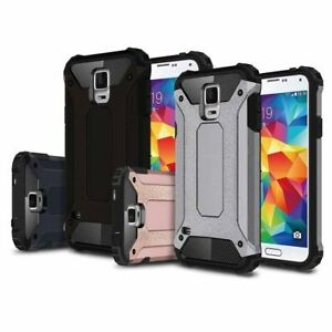 For Samsung Galaxy S5 S6 Tough Hard Armor Hybrid Rubber Shockproof Case Cover