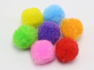 100 Mixed Color Soft Fluffy Pom Poms for Kids DIY Crafts Pompoms Ball 15mm