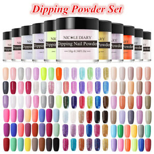 NICOLE-DIARY-Dipping-Powder-Holographic-Matte-Dip-Liquid-Brush-Nail-Starter-Kit