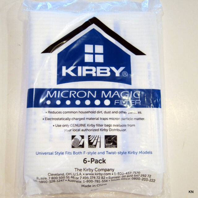 Kirby Universal Bag 6/PK White Cloth Polypropylene Bag 204811 fIT G3 to Availir2