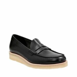 Image is loading NEW-MENS-CLARKS-ORIGINAL-BURCOTT-BLACK-LEATHER-SLIP-