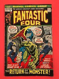 FANTASTIC-FOUR-124-The-Return-of-the-Monster-Sue-Storm-Captured-Marvel-1972