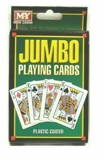 Jumbo Playing Cards Great Family FUN Travel Party game UK Seller FAST POST