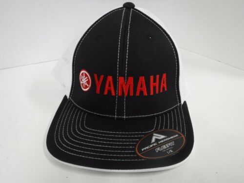 New Authentic Yamaha Flex Fit Style Mesh Trucker Tuning Fork Hat L//XL
