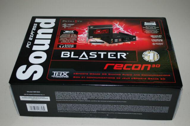 Creative Sound Blaster Recon3D THX PCIE Fatal1ty Pro Sound