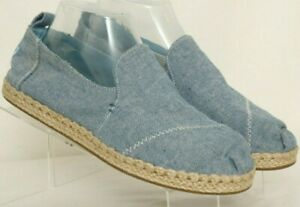 Toms-Classics-Blue-Espadrille-Comfort-Casual-Slip-On-Loafers-Flats-Women-039-s-US-8