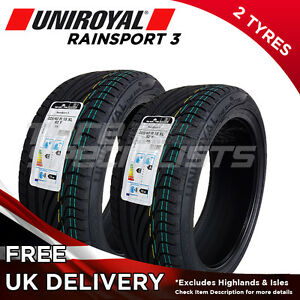 2x new 225 40 18 uniroyal rainsport 3 92y xl 225 40r18 2 tyres a wet grip ebay. Black Bedroom Furniture Sets. Home Design Ideas
