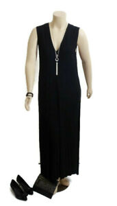 ALISTAIR TRUNG Black Sleeveless Relaxed Dress | Plus Size: 4