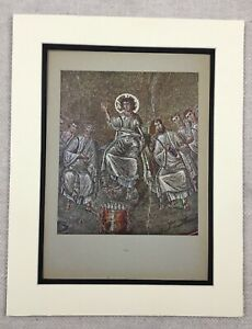 1929-Print-Byzantine-Mosaic-St-Aquilino-Basilica-of-San-Lorenzo-Milan-Italy