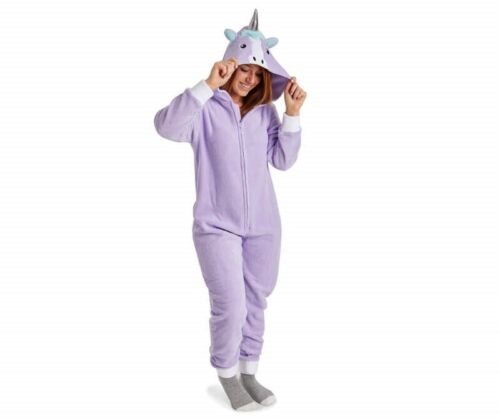 PJ Couture Unicorn 1PC zip fleece union suit pajama NEW UPICK women S 4 6 M 8 10