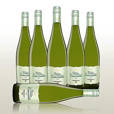 6 Fl. Torres Vina Esmeralda Blanco 2016 - Weißwein Spanien, halbtrockener Wein