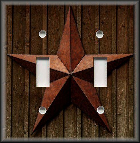Country Barn Star Home Decor Switch Plate Covers