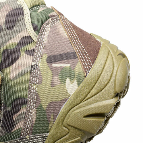 Mens Camo Combat Ankle Boots Hiking camping Military Desert Shoes Army Outdoor