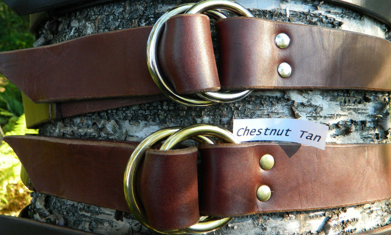 Mens 1 1//2 Rustic Hot Dipped Tan Harness Leather Belt Double Hole