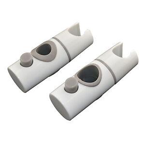 REPLACEMENT-ABS-WHITE-SHOWER-RAIL-HEAD-SLIDER-HOLDER-ADJUSTABLE-BRACKET