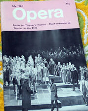 OPERA MAGAZINE, JULY 1980, THOMAS.S HAMLET, EBERT, FIDELIO AT ENO