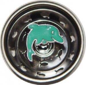 7134 Dolphin Beach Sea Shore Kitchen Sink Strainer Stopper