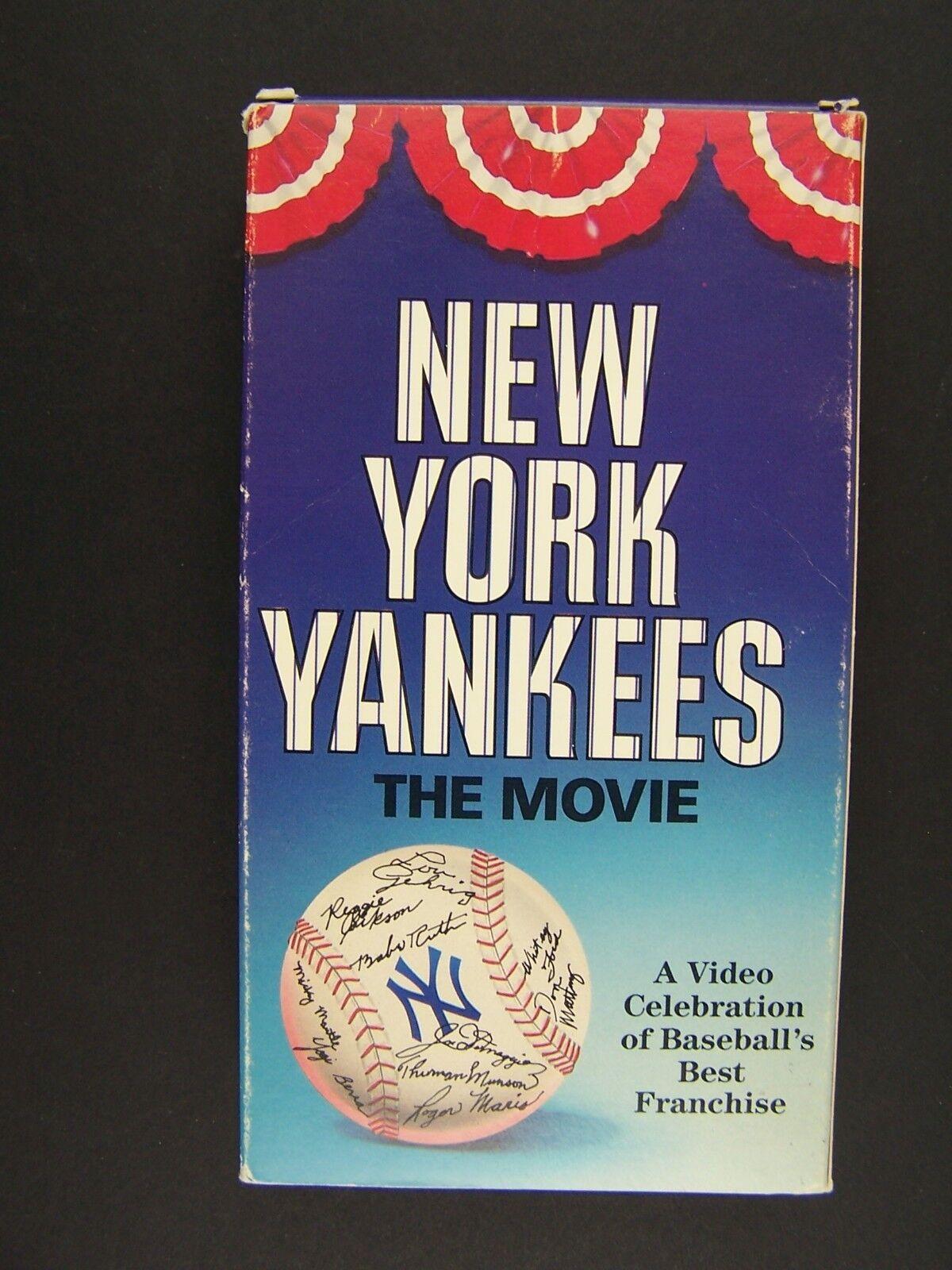 New York Yankees The Movie VHS Video Baseball History