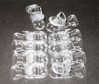 50 Baby Pacifier Bib Holder Badge T Plastic Clips Clear