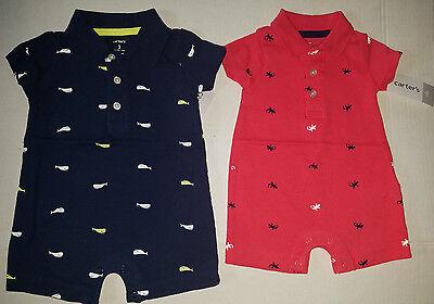 Carters  Infant  Boys 2 Piece Shorts Set  Size NB 3M  6M 9M 18M NWT Dog Blues