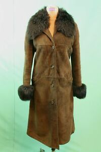 Details about Exclusive Lambskin Czar Coat Brown CA 46xl Womens Tailored Leather Vintage show original title