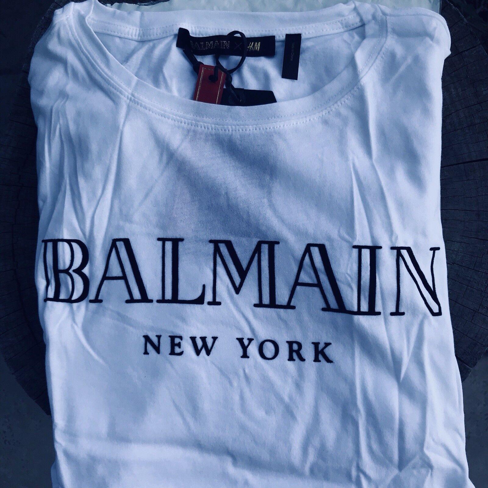 T-Shirt Balmain X H&M New-York Rare