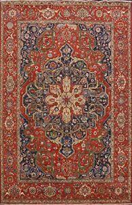 9x12-Geometric-Heriz-Serapi-Oriental-Area-Rug-Vegetable-Dye-Hand-knotted-Carpet