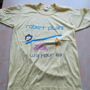 ROBERT-PLANT-The-Principal-Of-Moments-1983-USA-Tour-Original-t-shirt-Rare