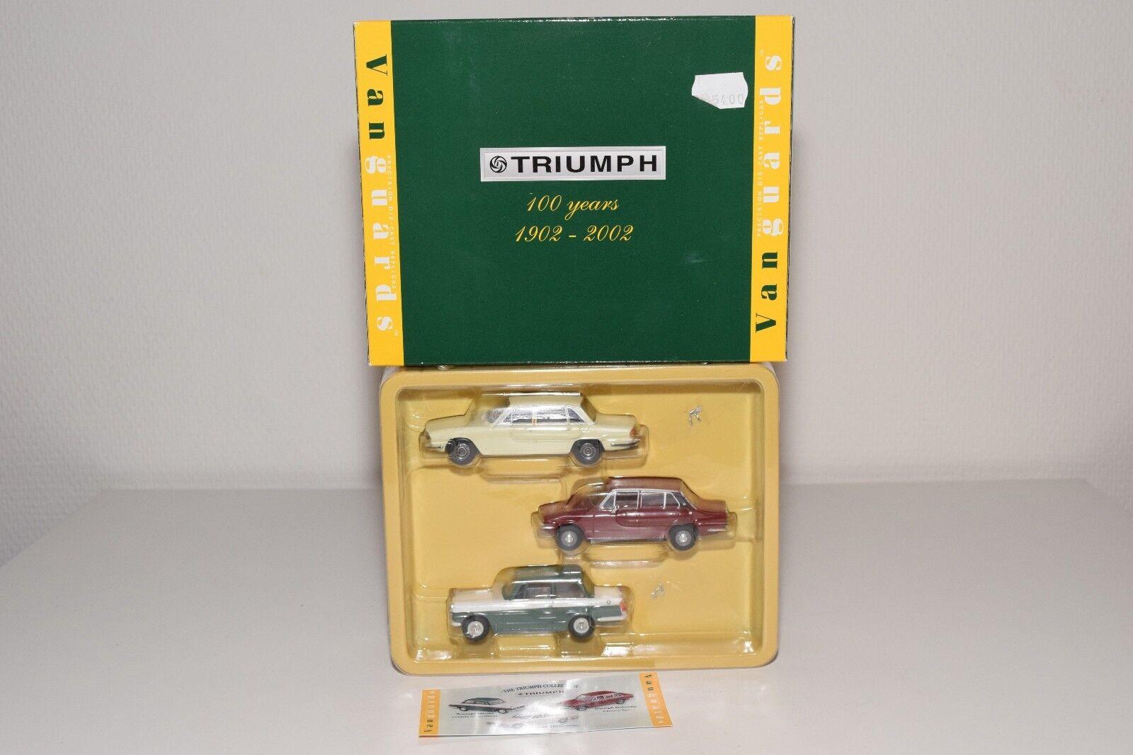 VANGUARDS GIFT SET TC1003 TRIUMPH 100 YEARS DOLOMITE 2000 HERALD MINT BOXED