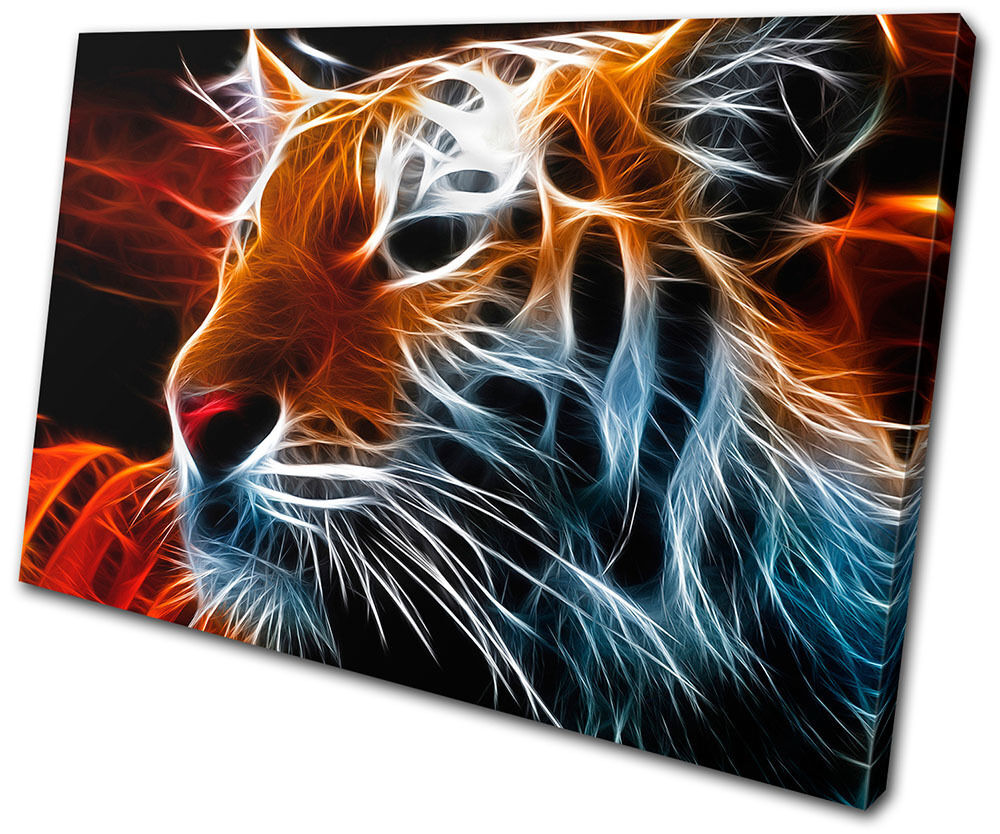 Canvas Art Picture Print Decorative Wall Hanging Tiger Animal Abstract Concept