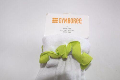 Gymboree Basic Lime Green Ruffle Ankle Girls Size S 11-12 Socks NEW  NWT