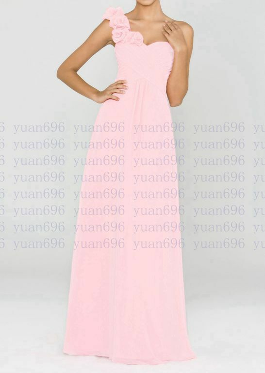Long Chiffon Evening Formal Party Ball Gown Prom Bridesmaid Dress ...