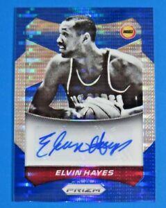 2014-PANINI-PRIZM-BLUE-SIGNED-ELVIN-HAYES-BASKETBALL-CARD-63-15-249
