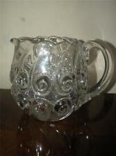 """EAPG  EARLY AMERICAN PATTERN GLASS SNAIL BULBOUS WATER PITCHER DUNCAN APPX. 7"""" T"""
