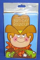 Gibson Cards Juvenile Birthday Invitations Cowboy Roundup Buckaroo Package Of 8