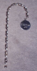 Rare-1970-Webster-Sterling-Silver-Candy-Cane-Christmas-Ornament-Decoration-Gift