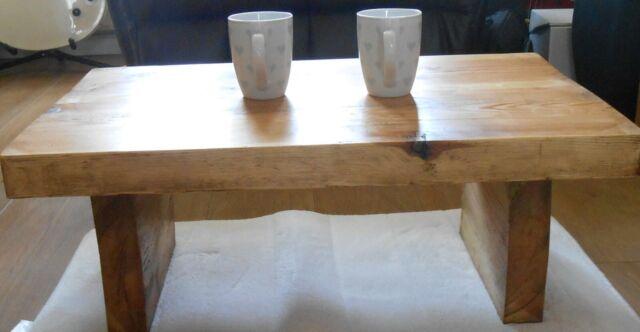 Handmade Rustic low solid wood coffee table life time guarantee