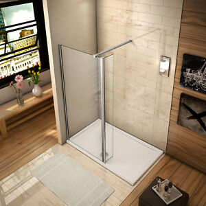 Details zu Walk in Duschabtrennung 8mm NANO Duschkabine Duschwand Dusche  mit Flipper Panel
