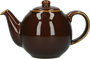 London Pottery Globe 2 Tasse Traditionnel Théière Rockingham Marron