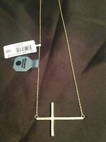 24kt Gold Over Sterling 21 Sideways Cross Necklace Designs By Fmc