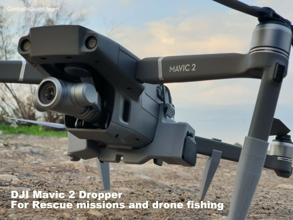 DJI Mavic 2 Auxiliary payload dropper for drone fishing or Rescue missions