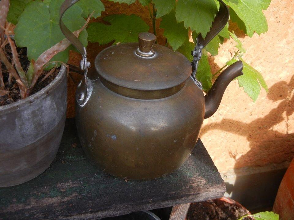 kobberkedel kobberkande, 2-3 antikke kobberkedler