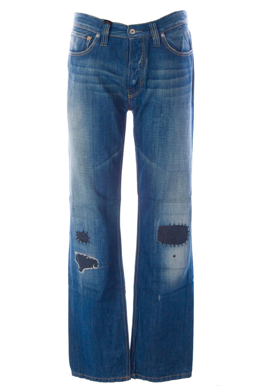 blueE BLOOD Men's Form LH Denim Button Fly Jeans MFOFS0753 NWT