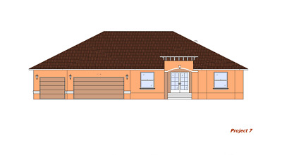 3,453 sq//ft Custom 4 Bedroom House Blueprints COMPLETE SET in PDF Plan P7