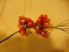 lot des fleurs pour chapeau ou broche  tissus ,mercerie ancienne