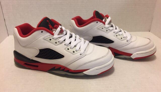 pretty nice 31ea7 4df71 Nike Air Jordan 5 Retro Low V GS Sz 7 Y Fire Red White Black 314338 101