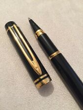 VINTAGE WATERMAN  LE MAN 200 BLACK LAQUE GT ROLLERBALL PEN-FRANCE-EXWO
