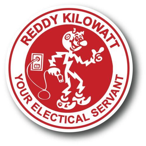 "Prius Fiat 500 Red Reddy Kilowatt Electric Car Decal Tesla High Quality 3.25/"""