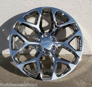 Chevy Truck Wheels >> Chrome Gmc Sierra Chevy Truck Wheels 22x9 Wheel Set 1999 2015 Chevy