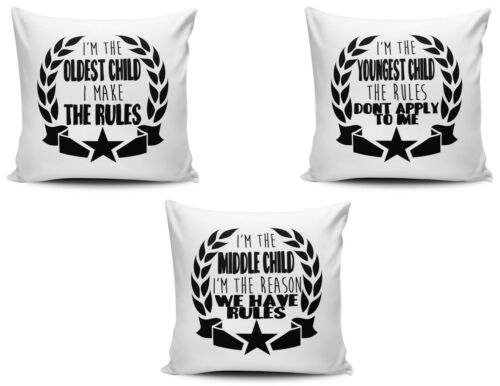 Middle /& Youngest Child Funny Cushion Covers Set Of I/'m The Oldest